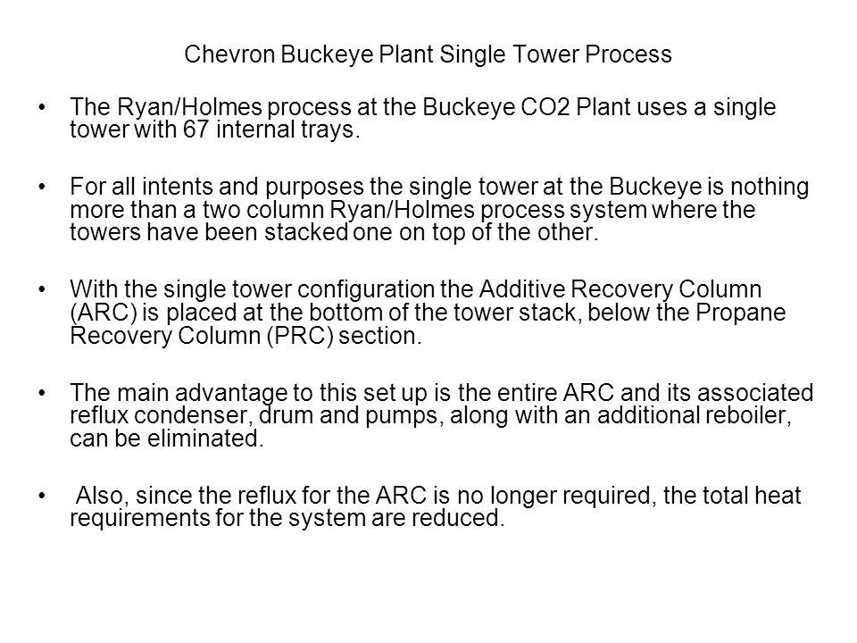 Chevron Buckeye Plant Single Tower Process