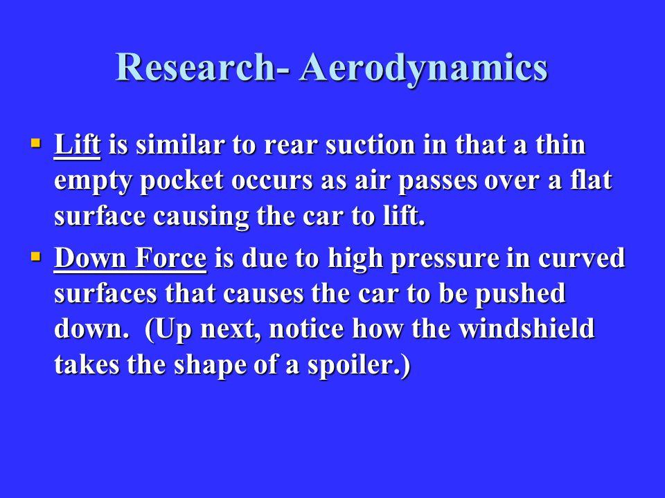 Research- Aerodynamics