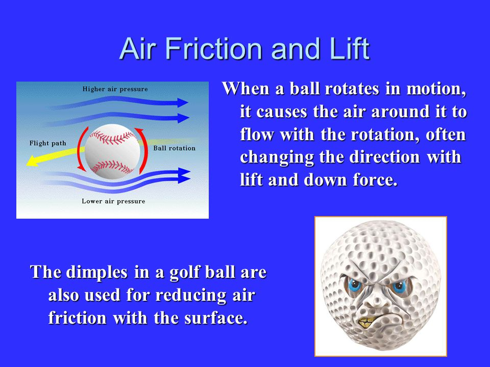 Air Friction and Lift