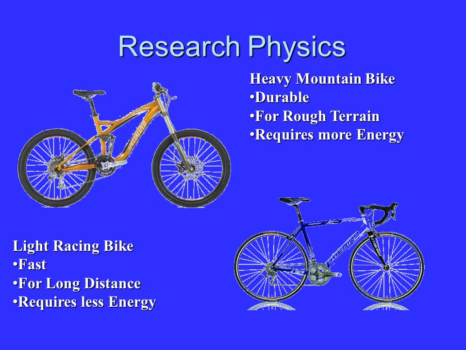 Research Physics Heavy Mountain Bike Durable For Rough Terrain