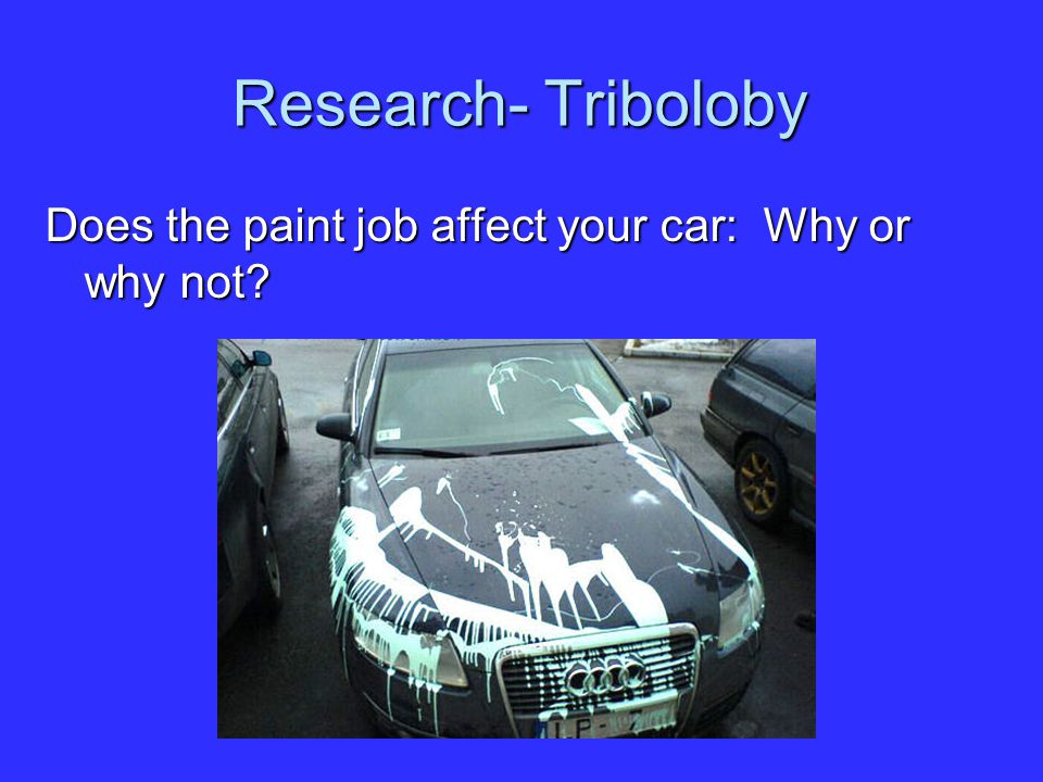 Research- Triboloby Does the paint job affect your car: Why or why not