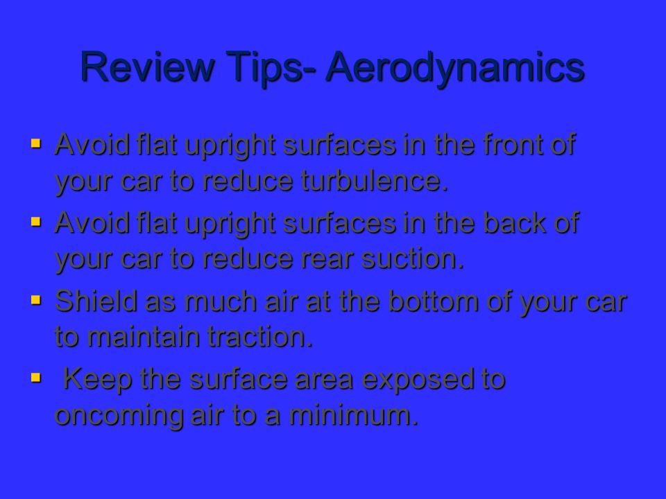 Review Tips- Aerodynamics
