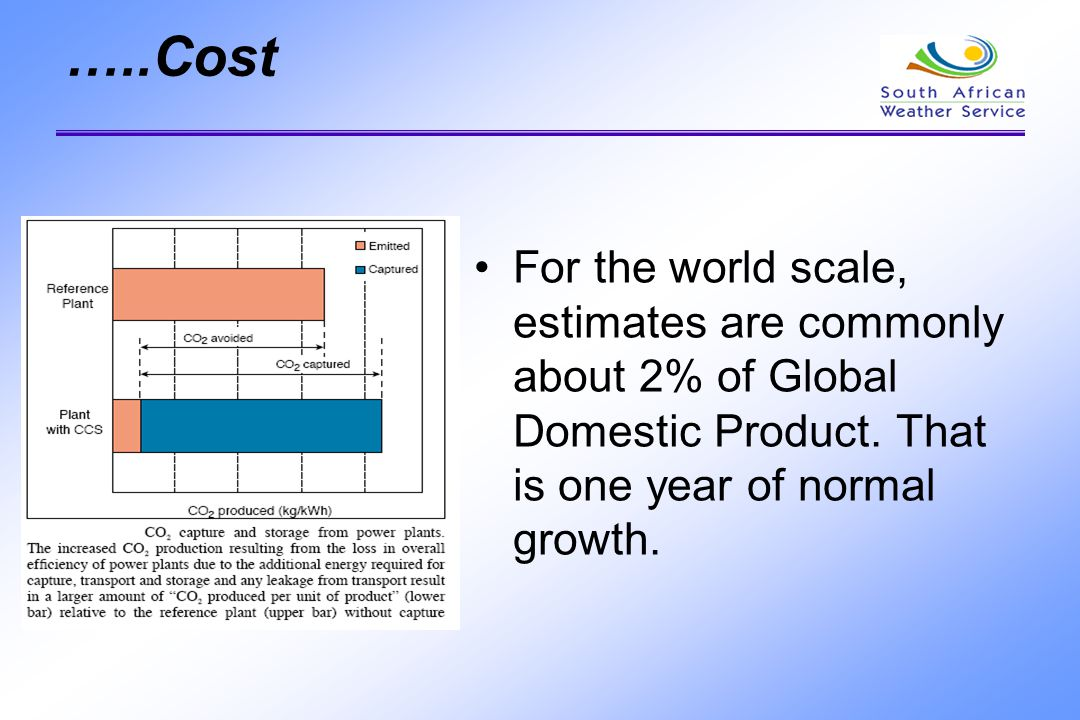 …..Cost For the world scale, estimates are commonly about 2% of Global Domestic Product.