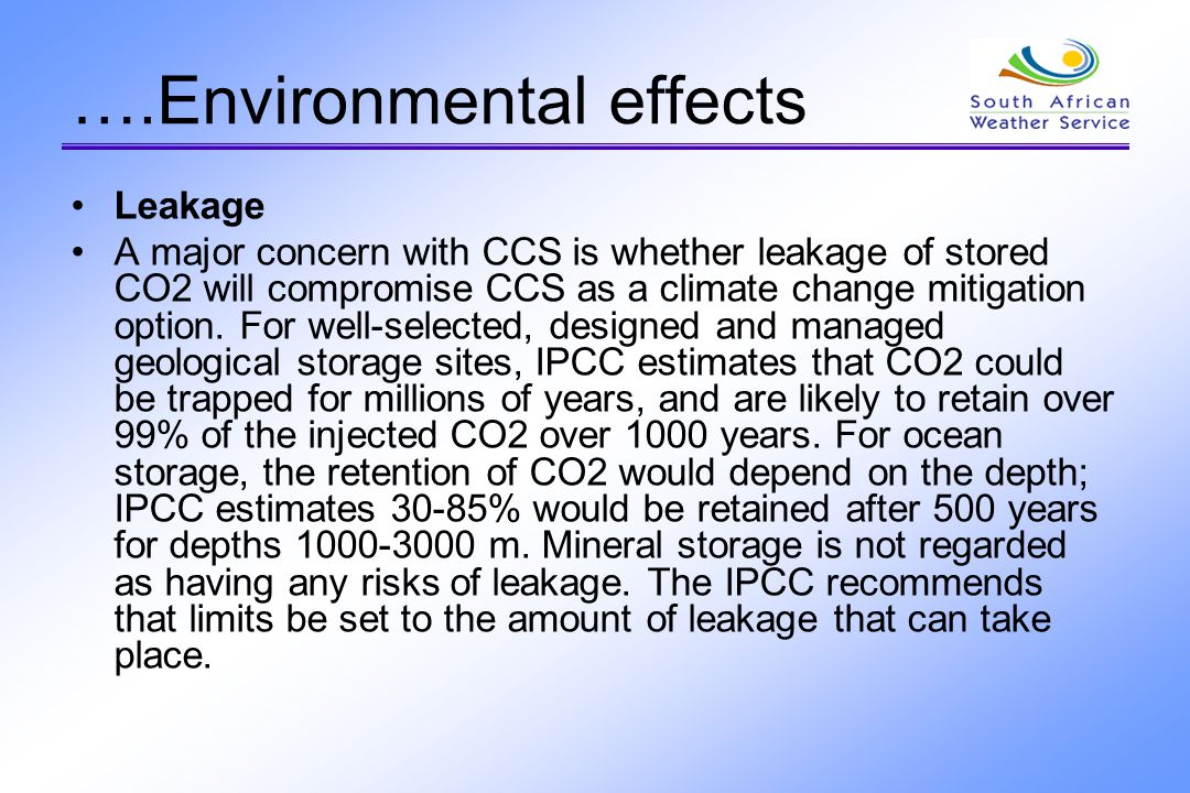….Environmental effects