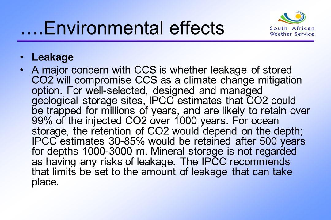 ….Environmental effects
