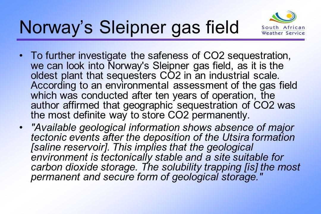 Norway's Sleipner gas field