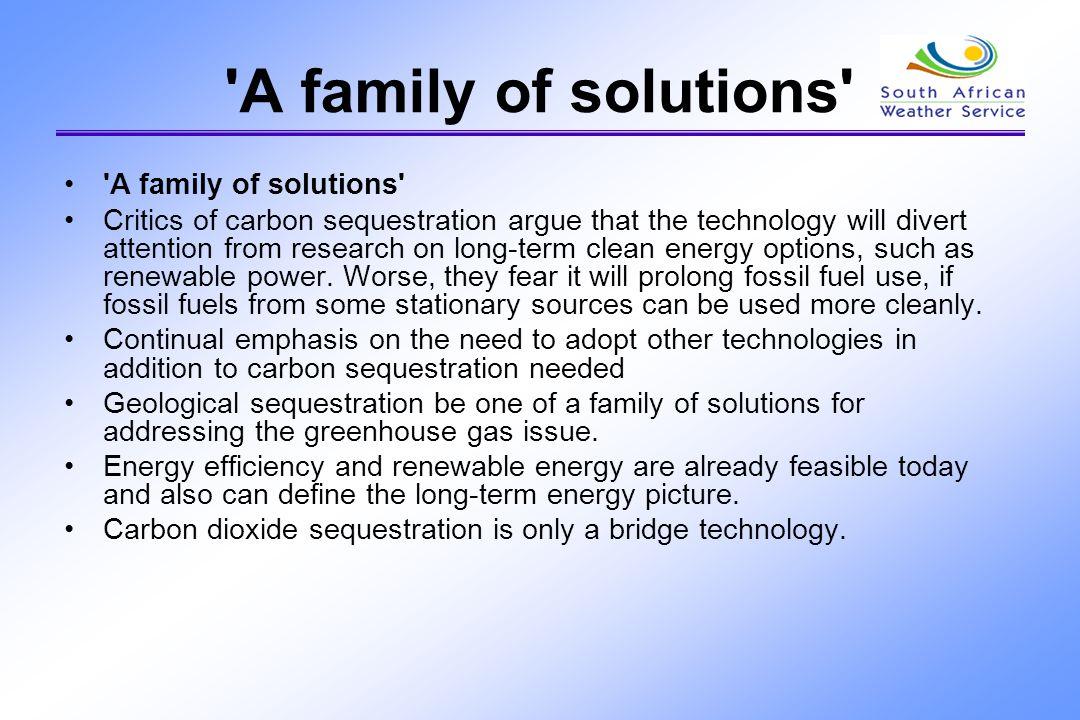 A family of solutions A family of solutions