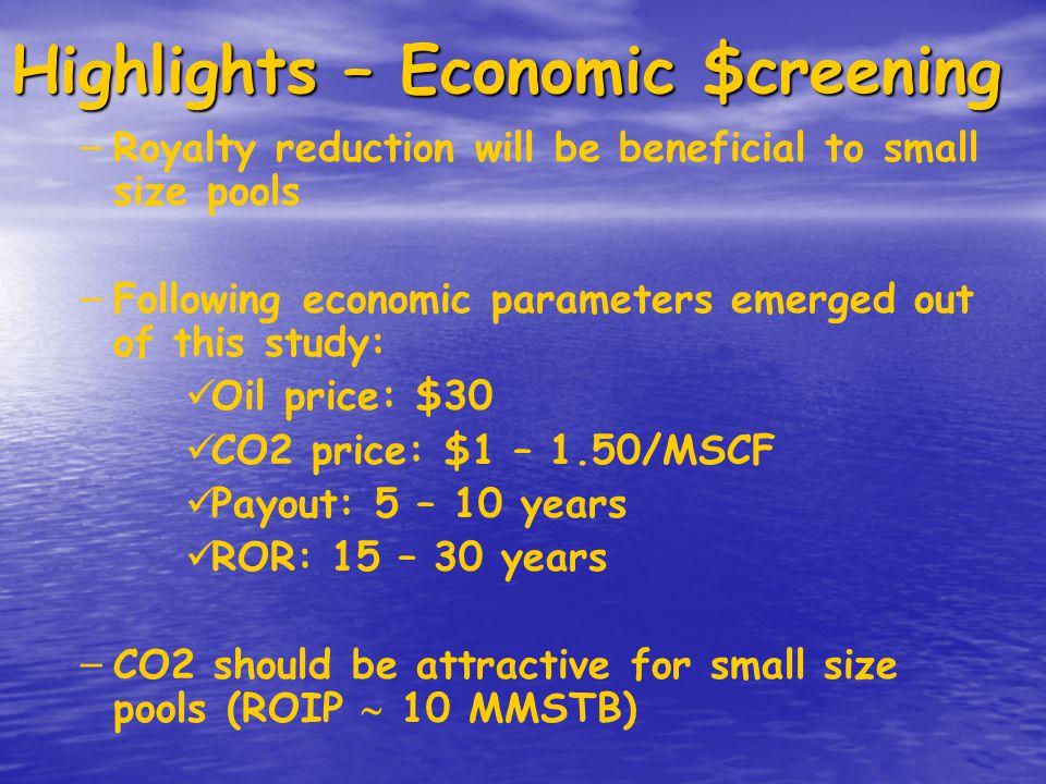 Highlights – Economic $creening