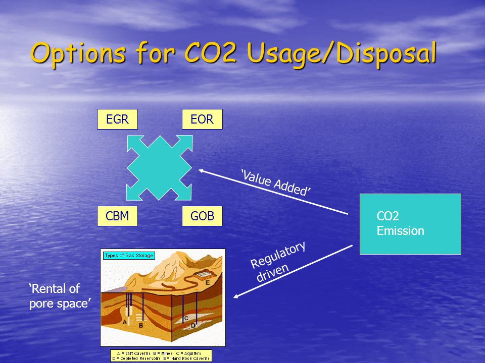Options for CO2 Usage/Disposal