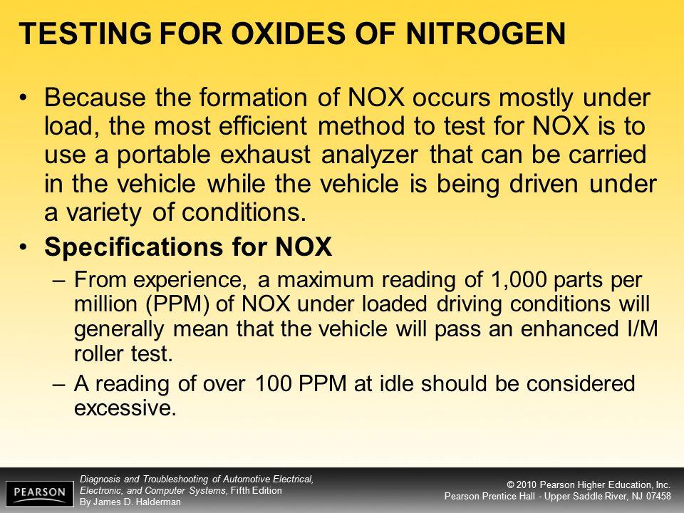 TESTING FOR OXIDES OF NITROGEN