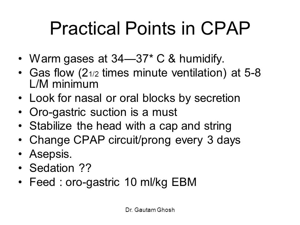 Practical Points in CPAP