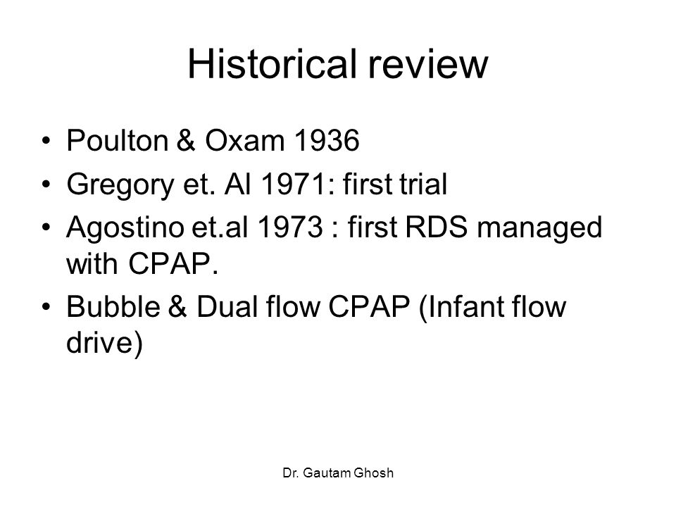 Historical review Poulton & Oxam 1936 Gregory et. Al 1971: first trial