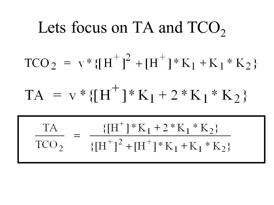 Lets focus on TA and TCO2
