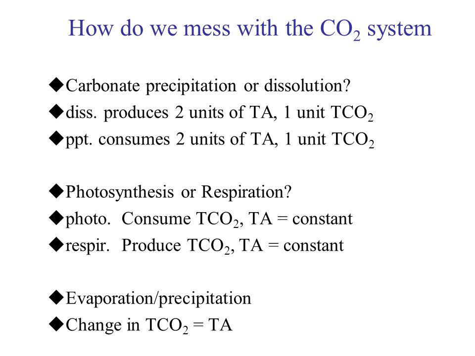 How do we mess with the CO2 system