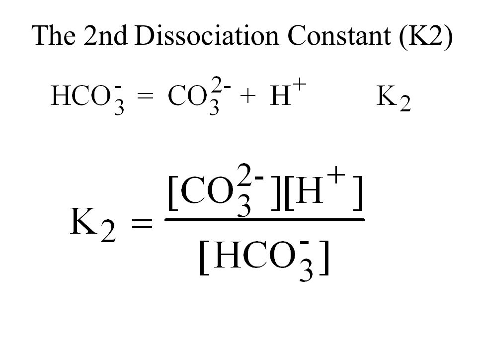 The 2nd Dissociation Constant (K2)