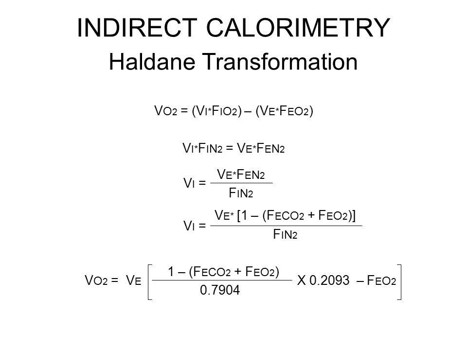 INDIRECT CALORIMETRY Haldane Transformation