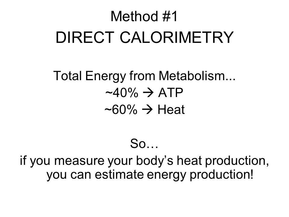 Method #1 DIRECT CALORIMETRY