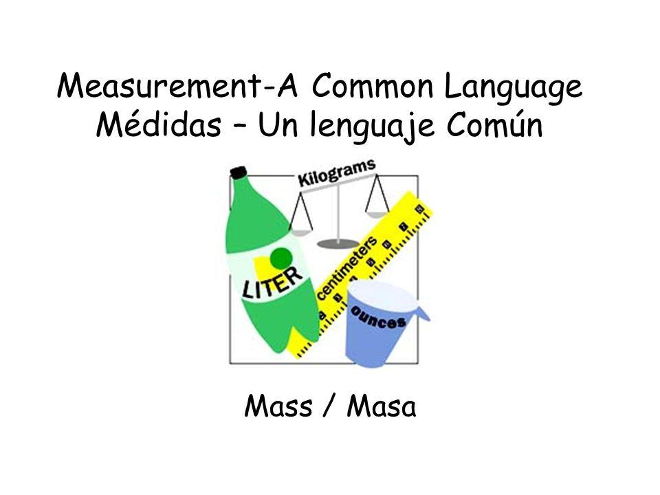 Measurement-A Common Language Médidas – Un lenguaje Común