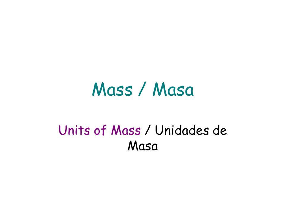 Units of Mass / Unidades de Masa