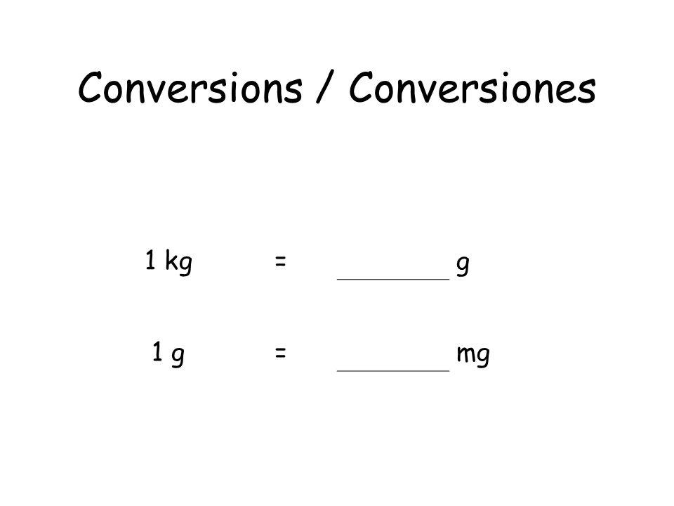 Conversions / Conversiones