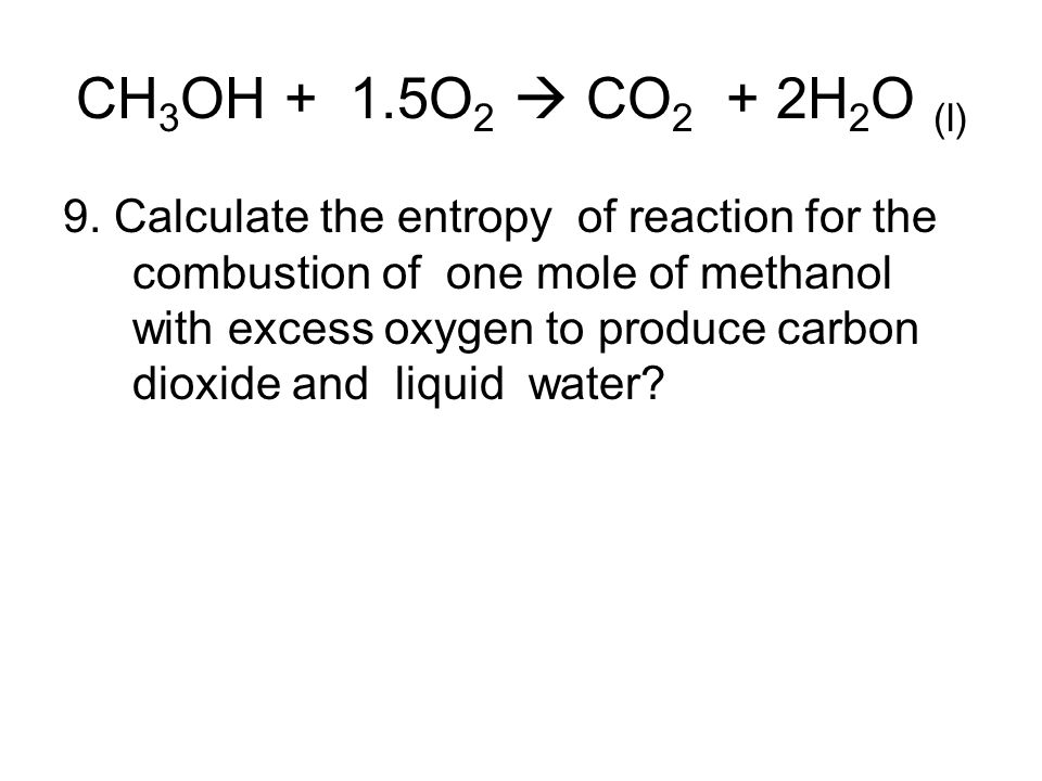 how to calculate molar entropy change of a reaction