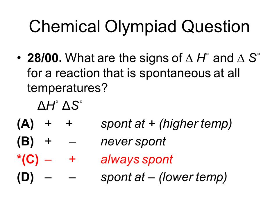 Chemical Olympiad Question