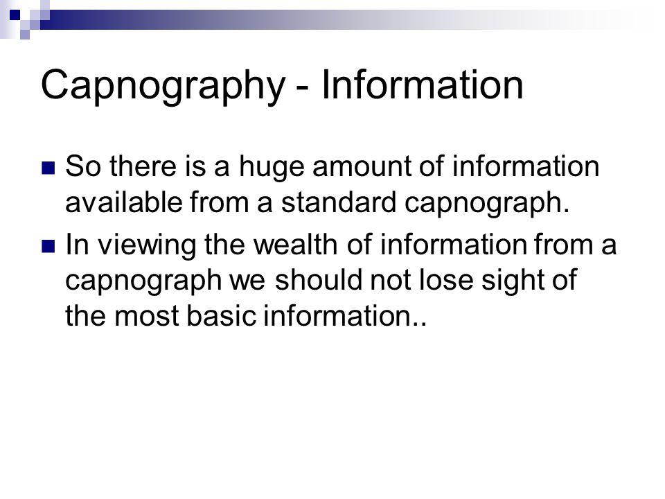 Capnography - Information