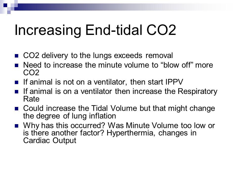 Increasing End-tidal CO2