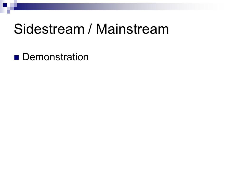 Sidestream / Mainstream
