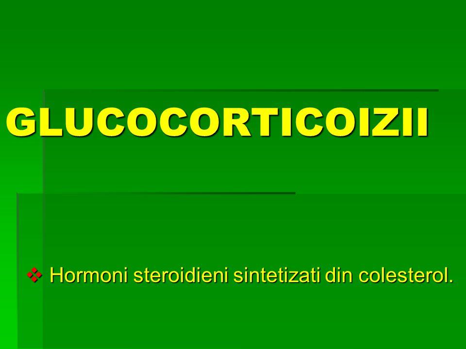 Hormoni steroidieni sintetizati din colesterol.