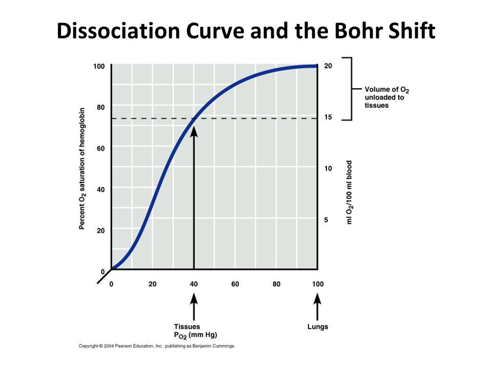 Dissociation Curve and the Bohr Shift