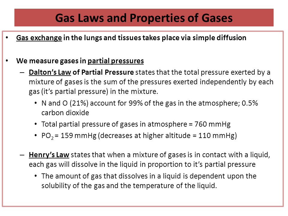 Gas Laws and Properties of Gases