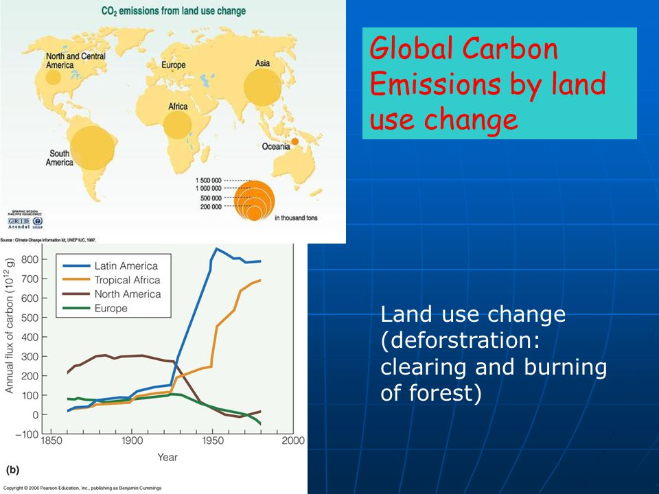Global Carbon Emissions by land use change
