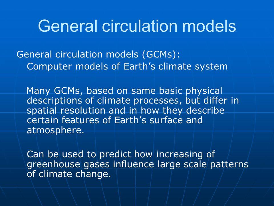 General circulation models
