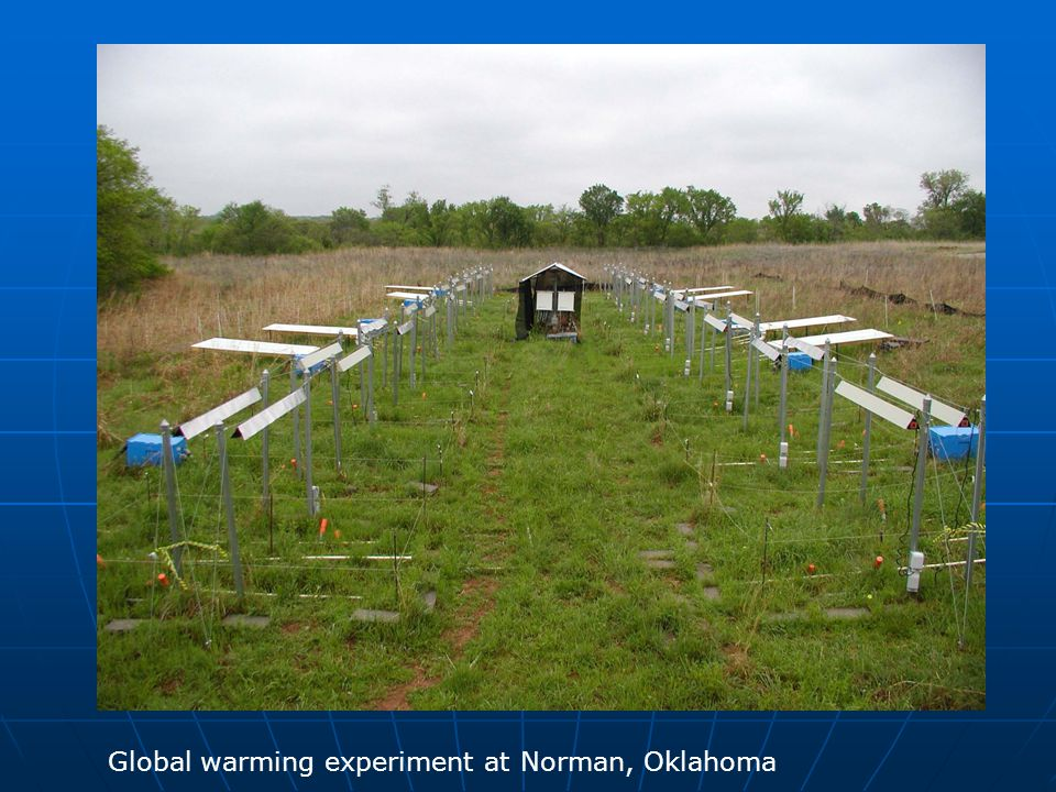 Global warming experiment at Norman, Oklahoma