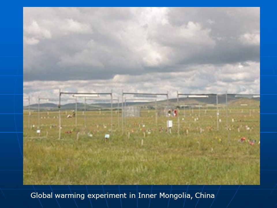 Global warming experiment in Inner Mongolia, China