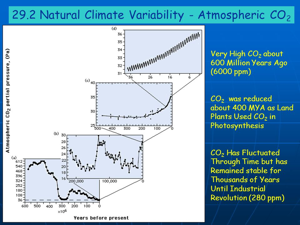 29.2 Natural Climate Variability - Atmospheric CO2