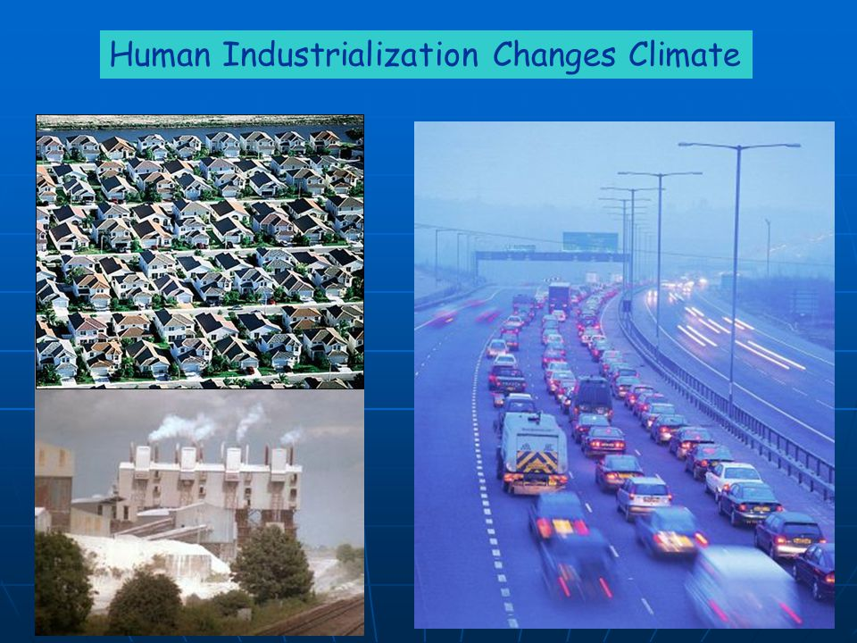 Human Industrialization Changes Climate