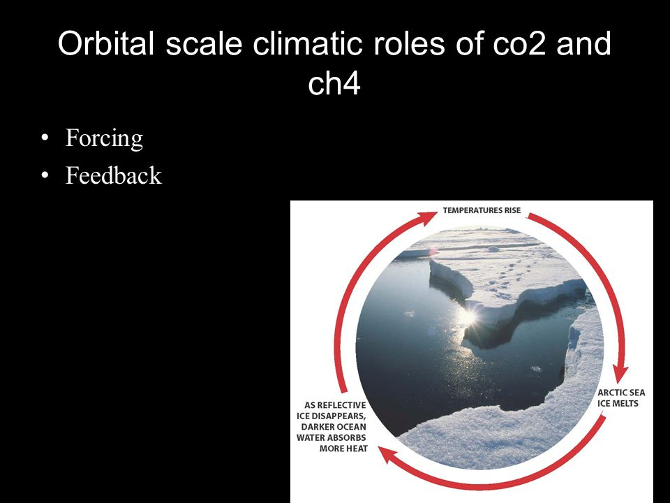 Orbital scale climatic roles of co2 and ch4