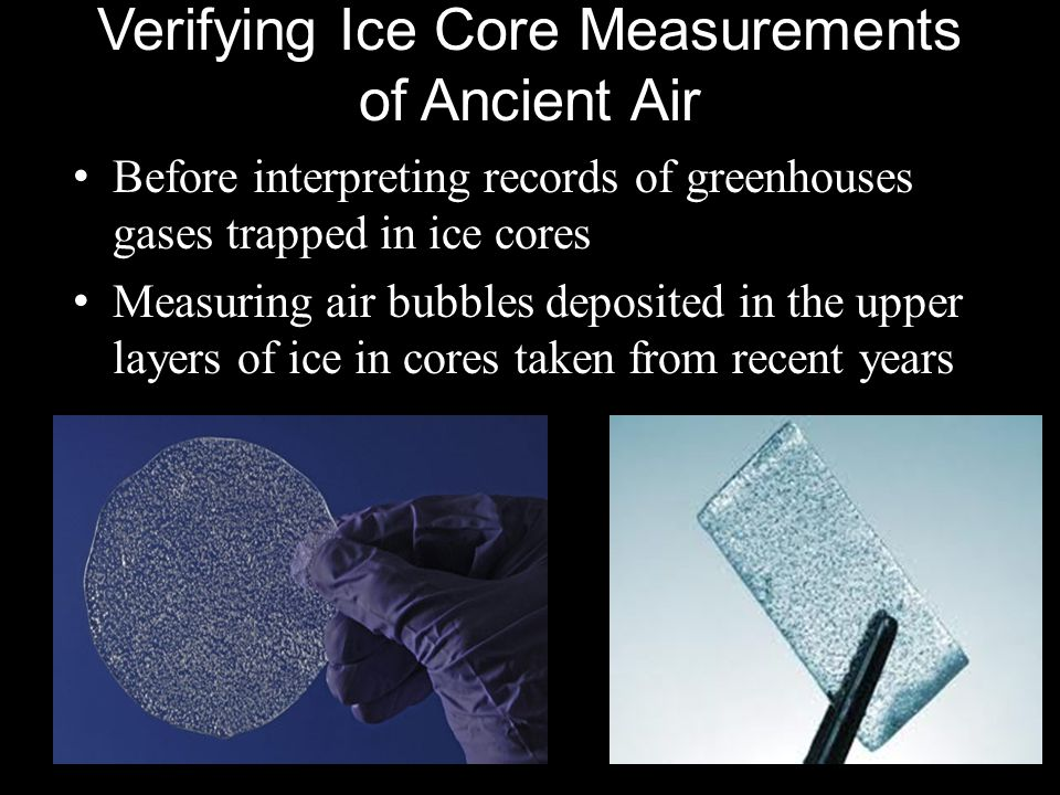 Verifying Ice Core Measurements of Ancient Air