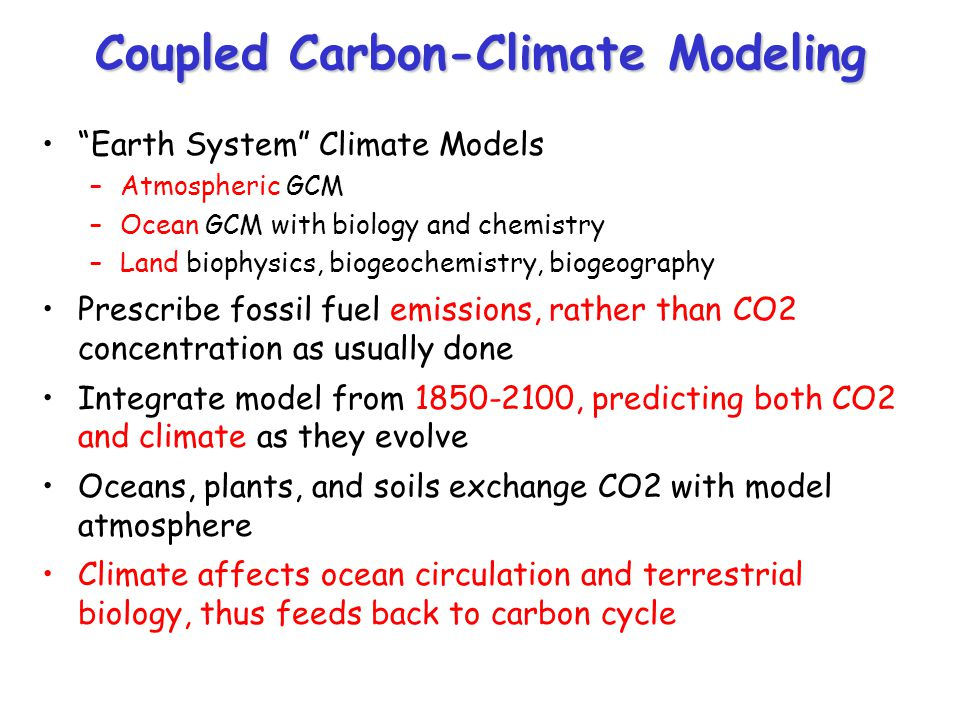 Coupled Carbon-Climate Modeling