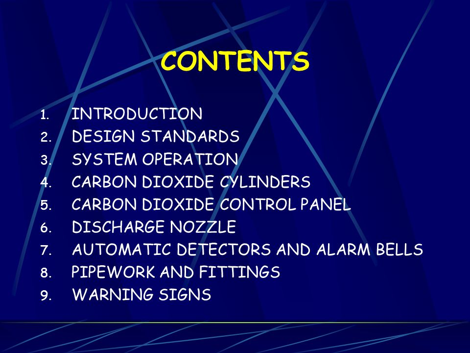 CONTENTS INTRODUCTION DESIGN STANDARDS SYSTEM OPERATION