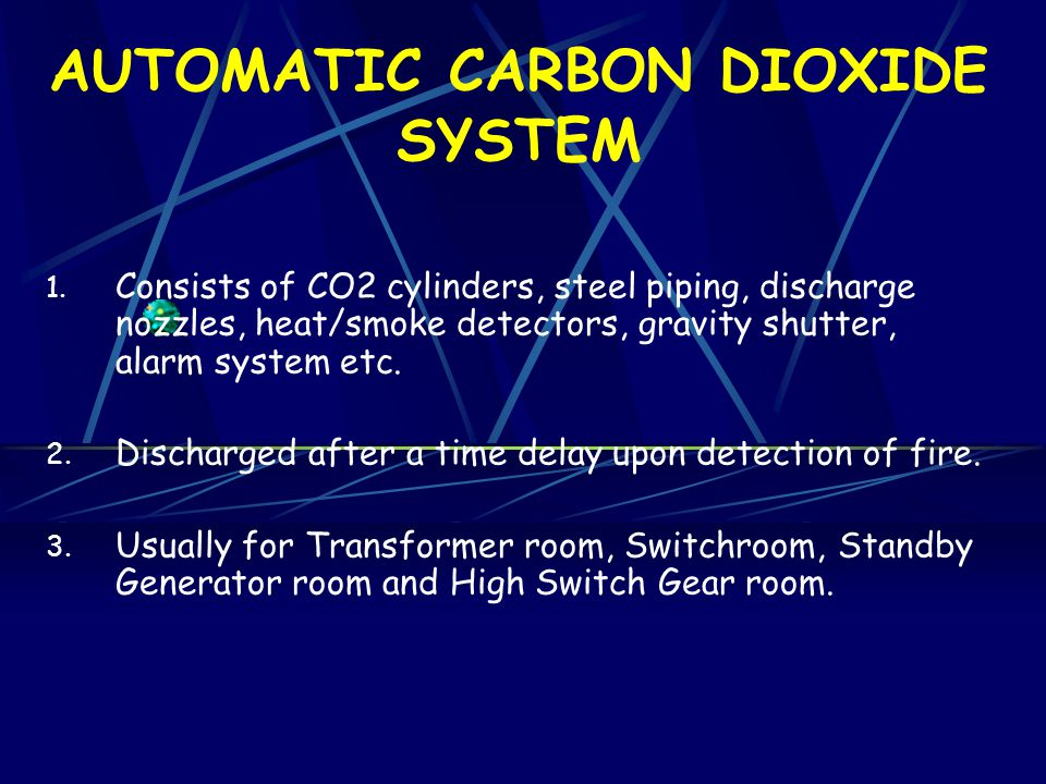 AUTOMATIC CARBON DIOXIDE SYSTEM