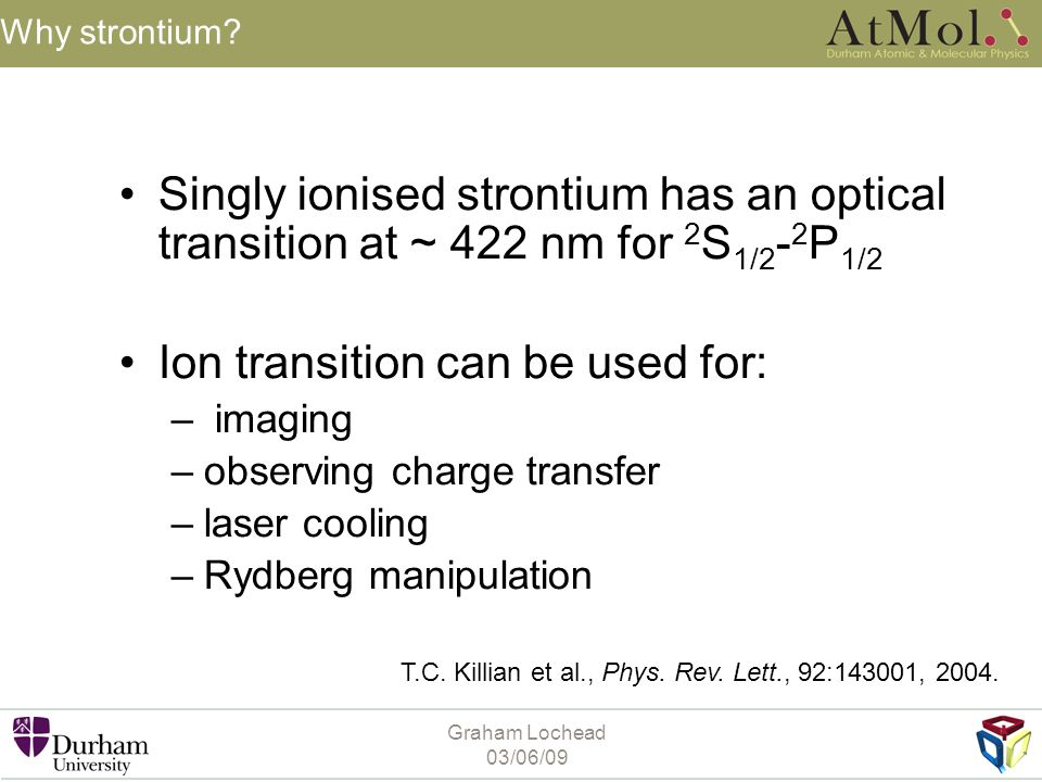 Ion transition can be used for: