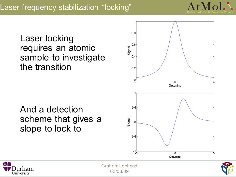 Laser frequency stabilization locking