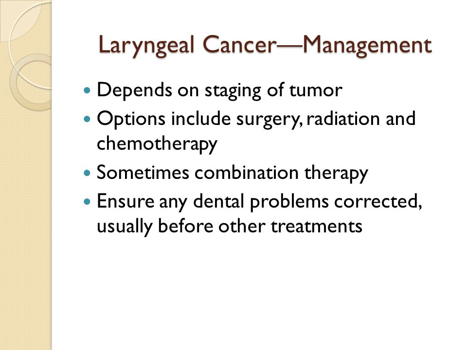 Laryngeal Cancer—Management