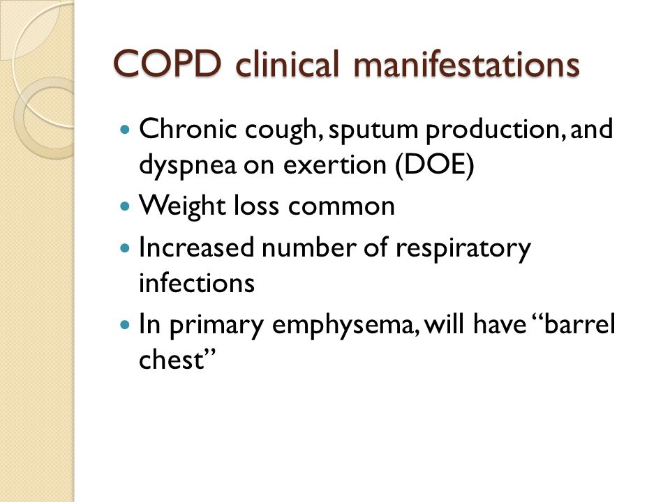 COPD clinical manifestations