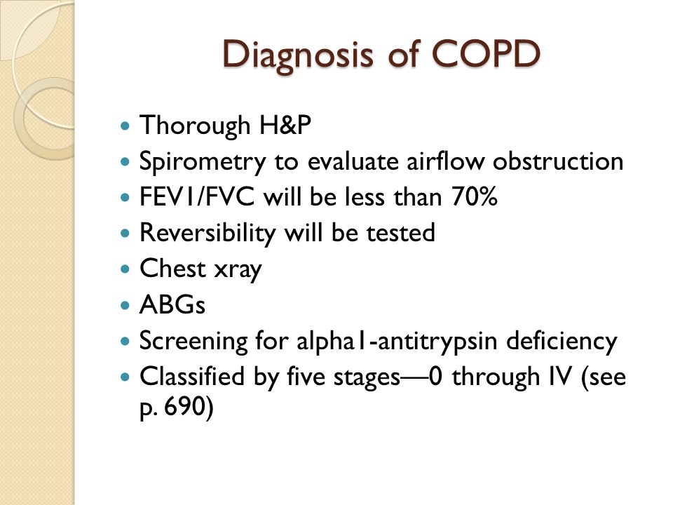 Diagnosis of COPD Thorough H&P
