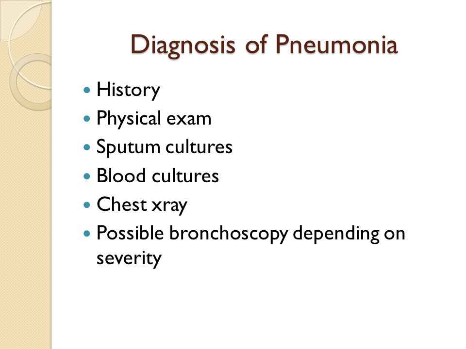 Diagnosis of Pneumonia