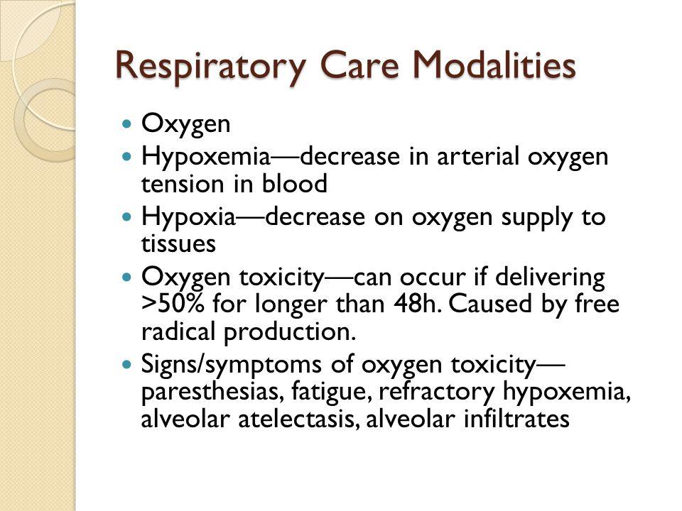 Respiratory Care Modalities